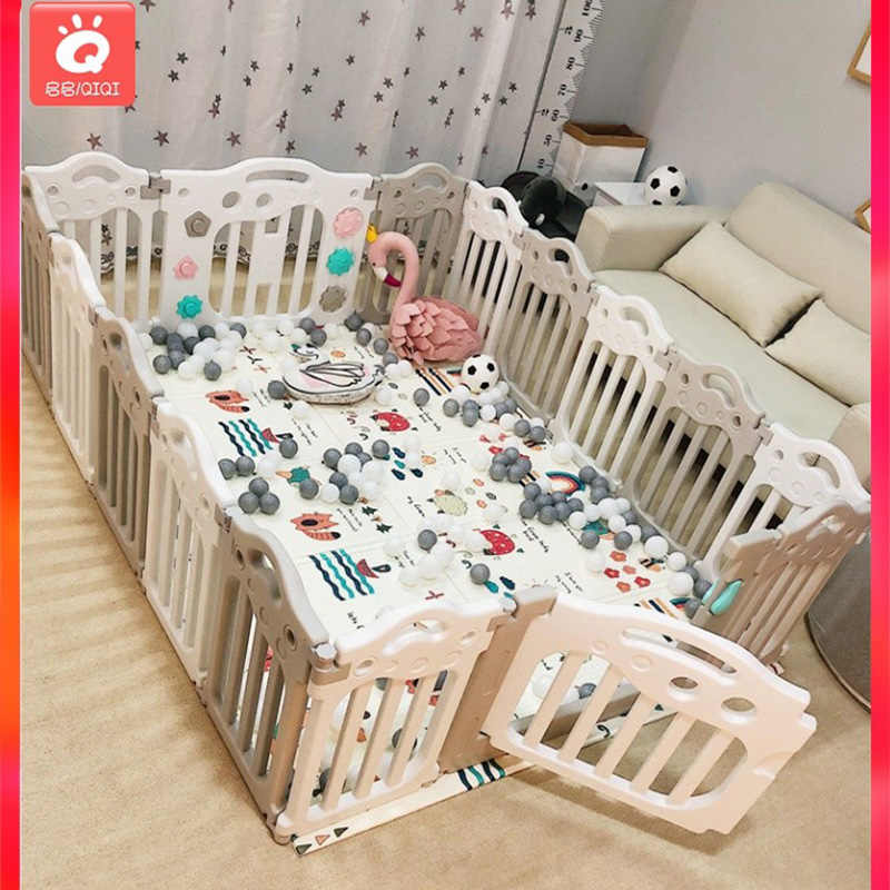 2019 new children's game park fence indoor crawling toy safety fence fence environmental protection material