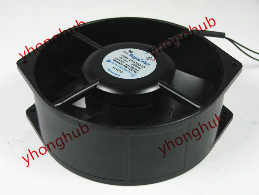 Emacro For Royal Fan UT670D-TP AC 100V 43/40W 2-wire Server Round Fan emacro for comair rotron pt2b3qdn server round fan ac 115v 30w 172x172x51mm