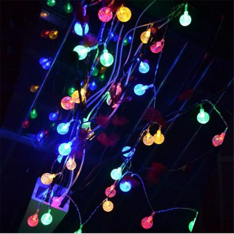 5 Couleurs 7.5M 50 LED String Light Batterie AA Imperméable Boules - Éclairage festif - Photo 5