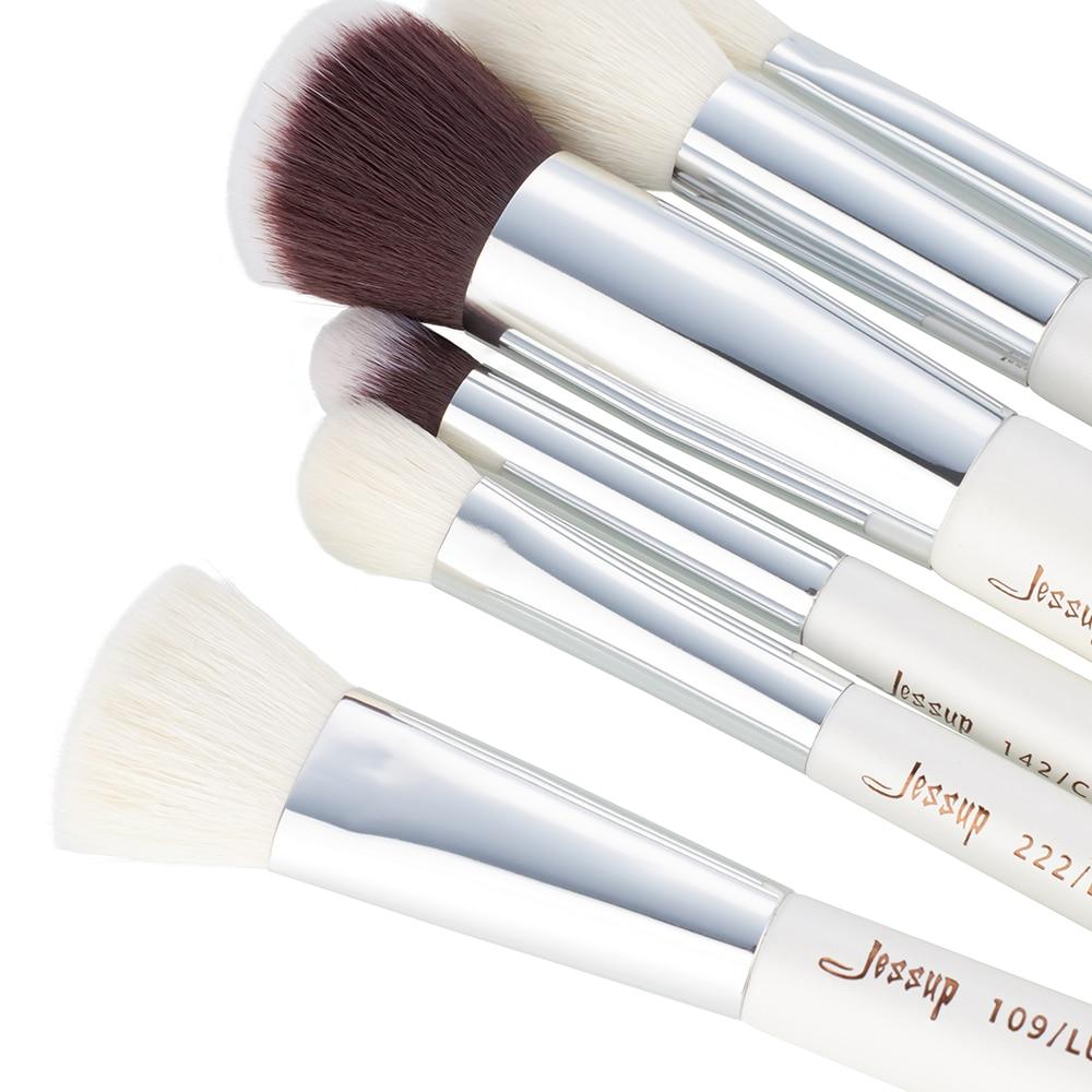 Jessup pinceles 20pcs Pinceles de maquillaje Blanco / Plata - Maquillaje - foto 4