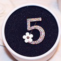 Shinny Full Rhinestones 5 Flwoer brooch pins for Women French Brooch Pin Jewelry Camellia Brooches
