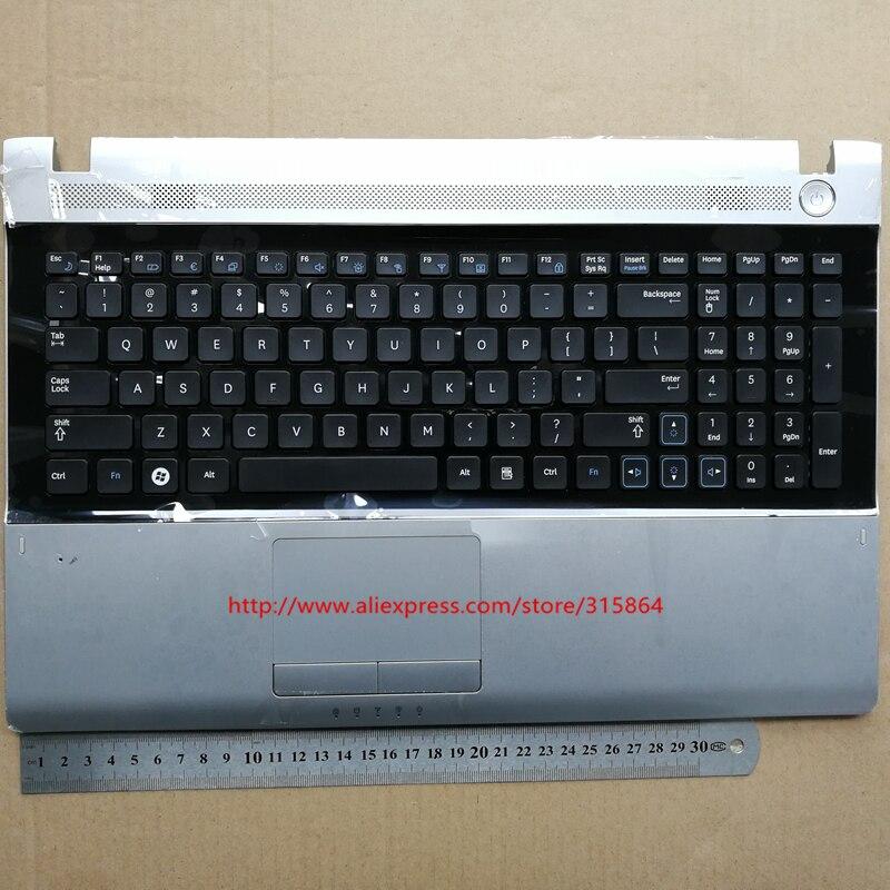 США новая клавиатура для ноутбука SAMSUNG RV509 RV511 RV515 RV520 E3511 черный с динамиком и тачпад низкая цена английская раскладка