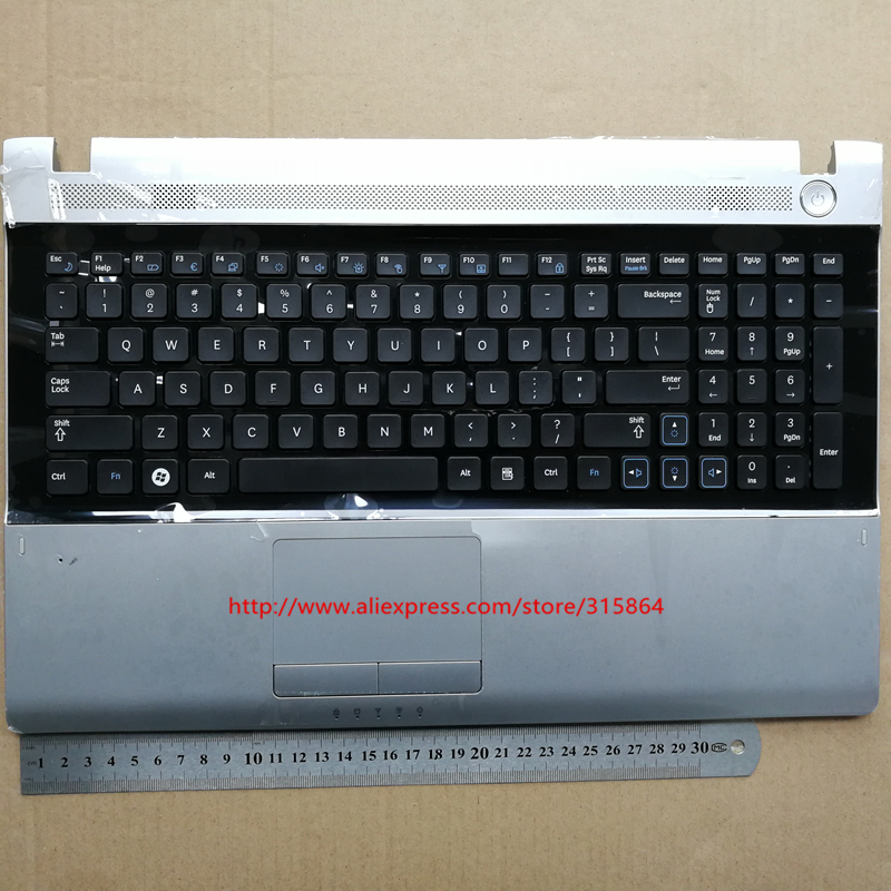 Nuevo teclado portátil para SAMSUNG RV509 RV511 RV515 RV520 E3511 negro con el altavoz y El touchpad precio bajo diseño inglés