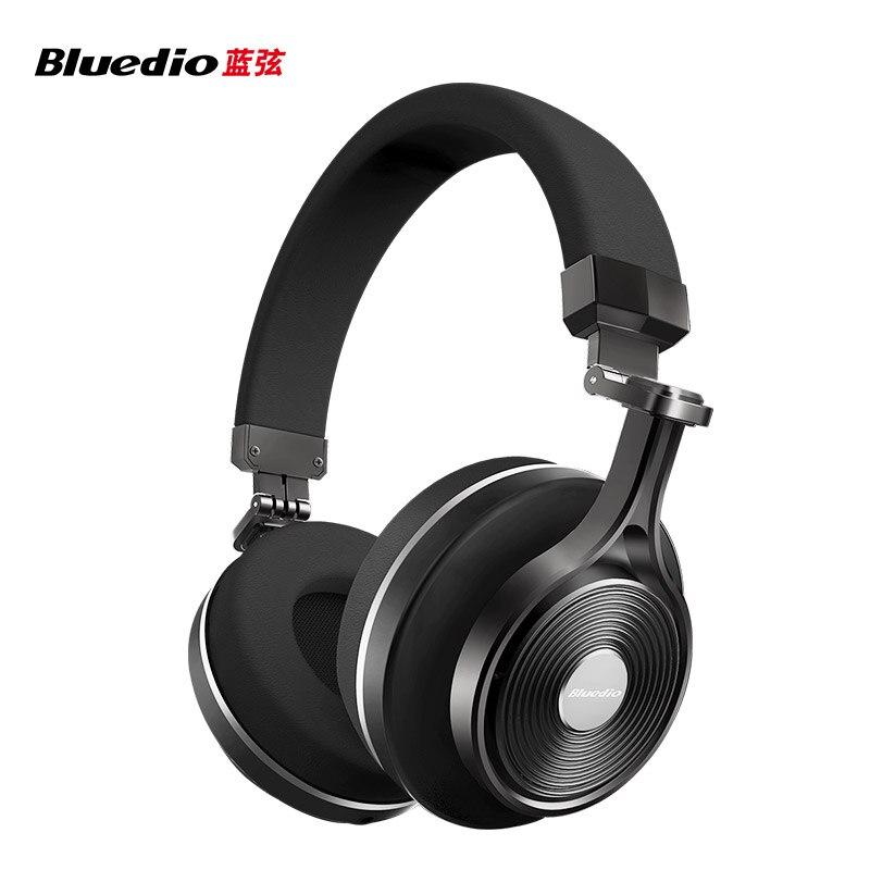 Orignal Bluedio T3Plus casque sans fil Bluetooth casque intelligent Bluetooth 4.1 casque/écouteur avec fente pour carte SD pour APP