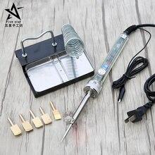 Инструмент для окантовки кожаных кромок, электрическая железная латунная головка, герметизирующая кромка для кожевенного ремесла, пресс бокового барабана и поворотного канавки, железная рама