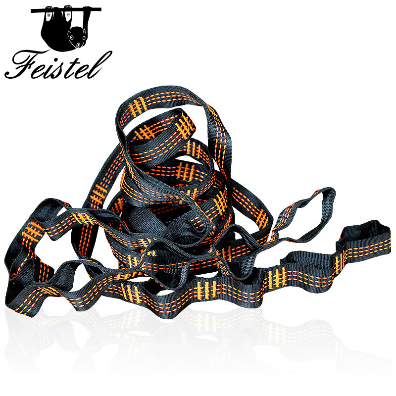 Orange Three Line Hammock Straps Rope Accessories Load 2000KG Strong