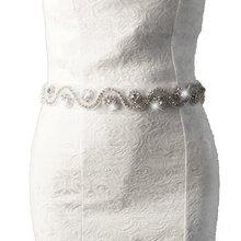Beautiful Crystal Rhinestone Pearl Wedding Party Dress Belt Handmade Cummerbunds Waistband Girdle Headband