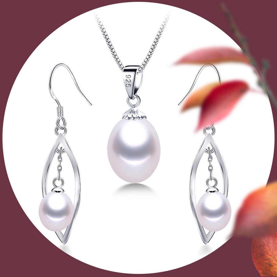 AAAA 本物の淡水真珠のペンダント 8-9 ミリメートル 925 スターリングシルバーネックレス女性のための卸売小型の天然真珠ジュエリー