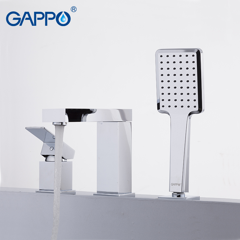 GAPPO Shower Faucets brass waterfall faucet bath tub mixer deck mounted tub faucets
