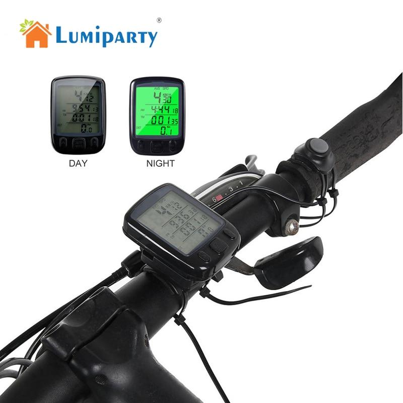 LumiParty Wireless/Wired Waterproof Bike Compute Bicycle LCD Backlight Bike Odometer Speedomet cycling computer bicicleta