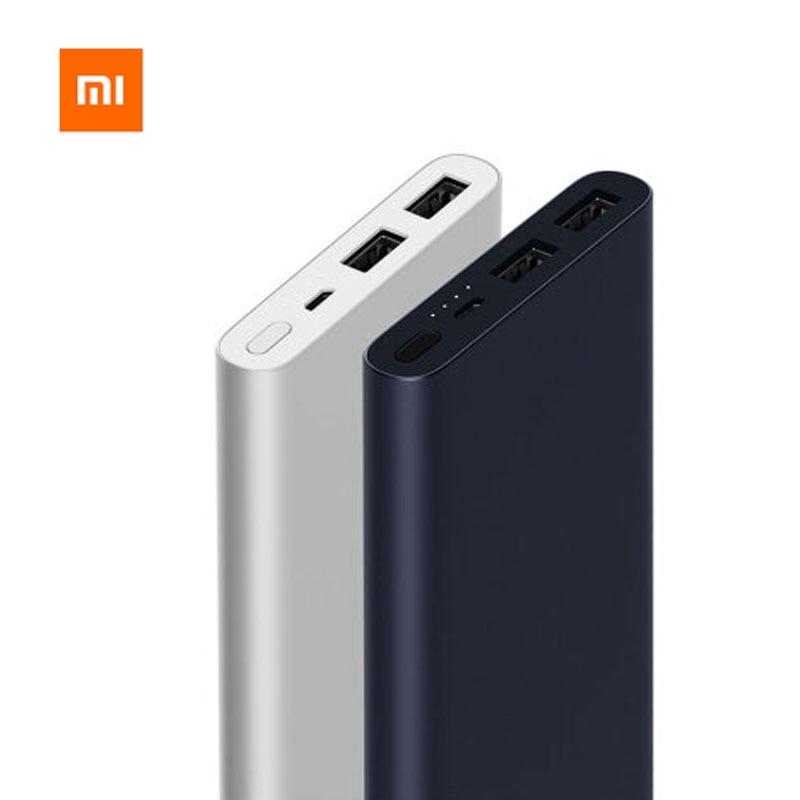 Оригинальный xiaomi Mi Мощность банк 2 10000 мАч Quick Charge Мощность банк Поддержка Быстрая зарядка внешний Батарея Портативная зарядка xiaomi