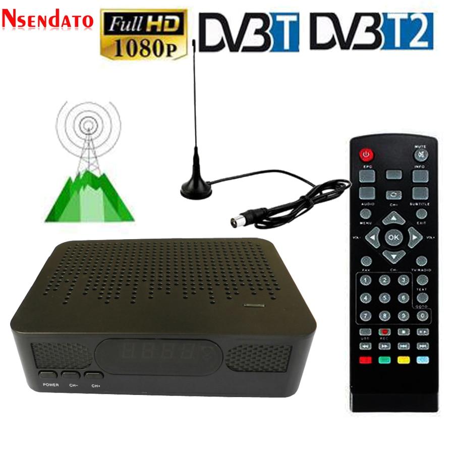 K3 DVB-T2 Satellite TV Tuner HD DVB-T2 Digital Terrestrial Set Top TV Receiver Box FTA Receptor DVB T2 DVBT2 VHF UHF Antenna цена и фото