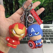 Cute Marvel The Avengers 4 Key Chain Superhero Iron Man Captain America Spiderman Doll Toy Keychain for Women Bag Charms Accesso