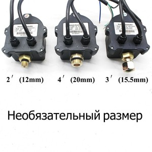 """Image 4 - Russian Digital LED Display Water Pump Pressure Control Switch G1/4"""" G3/8"""" G1/2"""" WPC 10,Eletronic Controller Sensor With Adapter"""