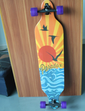 Free Shipping 42″ x 9″ Sector 9 Drop Through Longboard Canadian Maple Skateboard Longboard Truck Longboard+Slide Glove