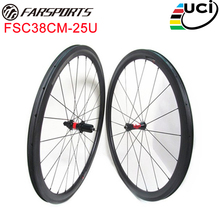 DT 240s SP hubs with Sapim aero spokes 700C 38mm x 25mm carbon bike wheelset for triathlon bike wheels Farsports