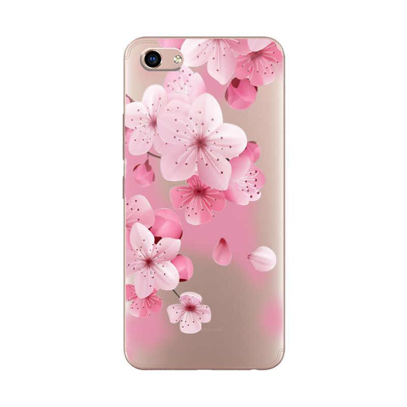 Милое платье с цветочным принтом Мягкий Силиконовый ТПУ для телефона чехол для Vivo Y81 3D рельеф кружева чехол для Vivo Y81 6,22 дюймов