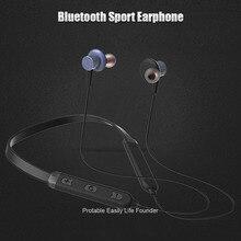 Hot Sweatproof Esportes Neckband fone de Ouvido Bluetooth Sem Fio Fones De Ouvido Fone De Ouvido com Microfone Baixo Fone de Ouvido para Samsung iphone telefone
