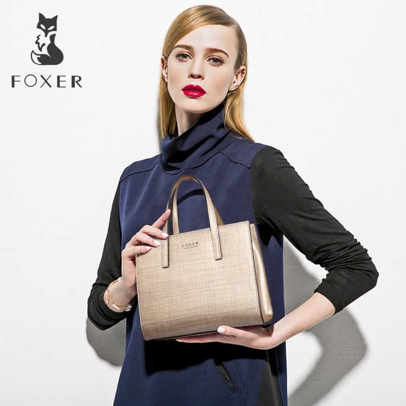 FOXER Brand Women's Cowhide Leather Handbags Shoulder bags New Design Fashion Female Shoulder bag all-match Women's Bag