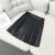 2016 mujeres de la vendimia de LA PU de Imitación de Cuero faldas primavera otoño de la alta cintura mini falda plisada Una Línea de cuero corto saia faldas