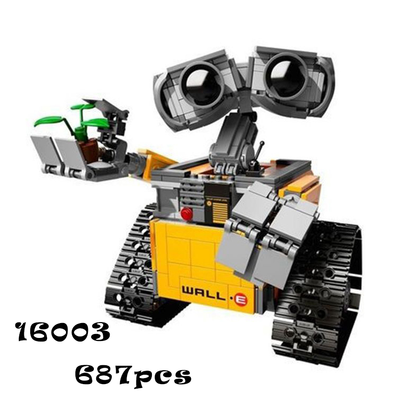 Model building kits compatible with lego Lepin 16003 Robot WALL E 3D blocks Educational model building toys hobbies for children model building blocks kits compatible with lego city 60123 lepin 02004 helicopter volcanic expedition brick model building toys