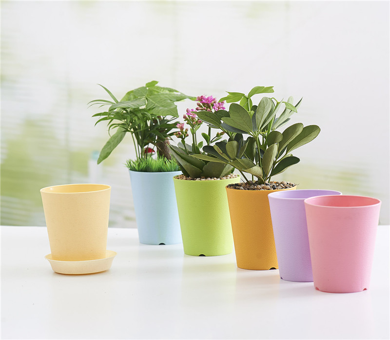 Thick Gardening Mini Plastic Flower Pots Vase Square Bonsai Planter Nursery Drop Shipping Size 11 9 5cm In Planters From Home