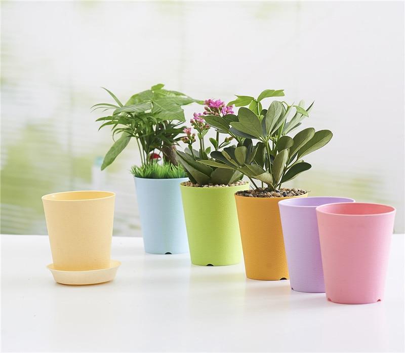 Thick Gardening Mini Plastic Flower Pots Vase Square Flower Bonsai