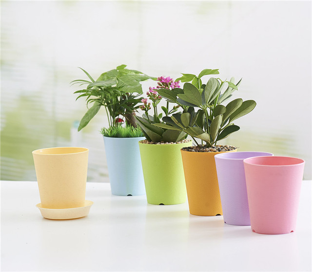 Thick Gardening Mini Plastic Flower Pots Vase Square Flower Bonsai