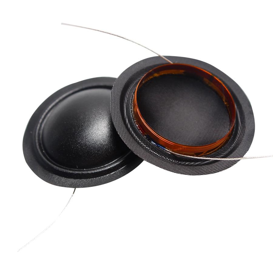 2PCS 1 INCH 25.4mm 25.5mm Tweeters Voice Coil Black Silk Diaphragm Membrane KSV Treble Speaker Repair Accessories 8ohm