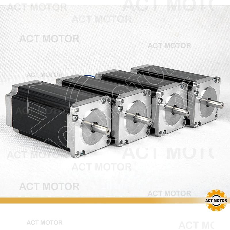 ACT Motor 4PCS Nema23 Stepper Motor 23HS2442 Single Shaft 4-Lead 425oz-in 112mm 4.2A 8mm Diameter Bipolar US DE CA UK JP Free