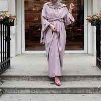 Fahion Muslimah fake two pieces Robe Musulmane Turkish Dubai fashion Muslim kaftan Robe full length Worship Service abaya wq1276