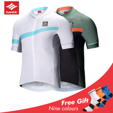 2019 Santic Cycling Jersey Men Ciclismo Bycicle MTB Short Sleeve Maillot Hombre Ropa Downhill Jerseys Bike Clothing
