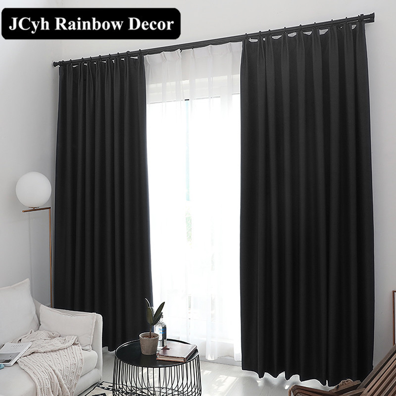90%Blackout Window Curtains For The Living Room Bedroom Modern Blinds Curtains For Kitchen Drapes Fabric Panel Cortina Para Sala|Curtains| |  - title=