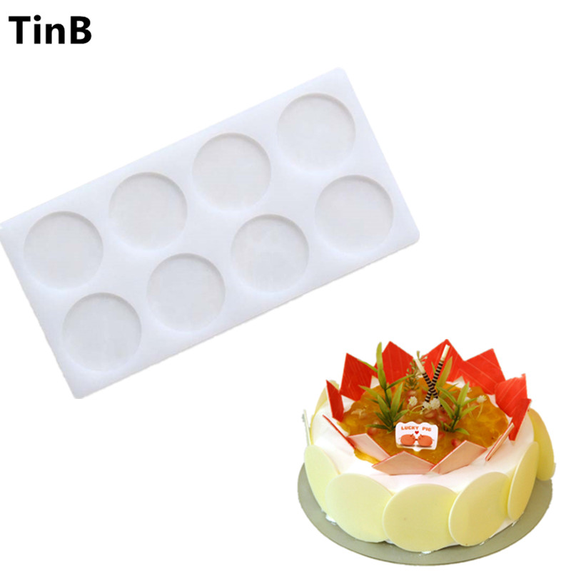 New Round Shaped Silicone Cake Mould Cake Decoration Fondant Chokolade Cake Mørk 3D Food Grade Silicone Mold Baking Tools
