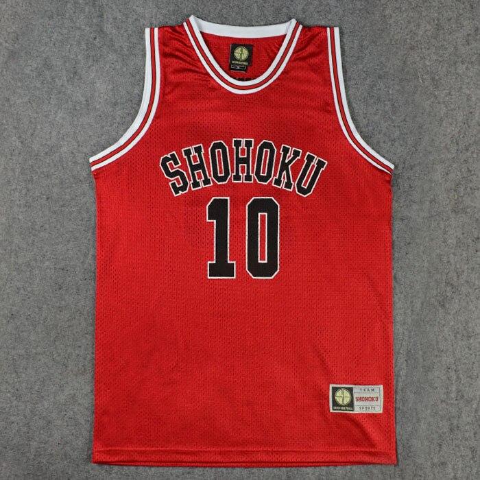 SLAM DUNK Shohoku School Team Jersey Cosplay Sakuragi Hanamichi Jersey Tops Shirt 1-15th uniforms
