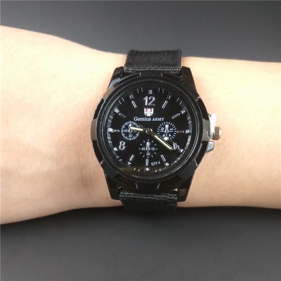 Military Men Watch Sports Style 40MM Dial Four Colors Nylon Strap Clock Casual Quartz Wrist watches High Quality Army Time Hours weide quartz casual watch army military sports watch waterproof back multiple time zone alarm men watches alarm clock berloques