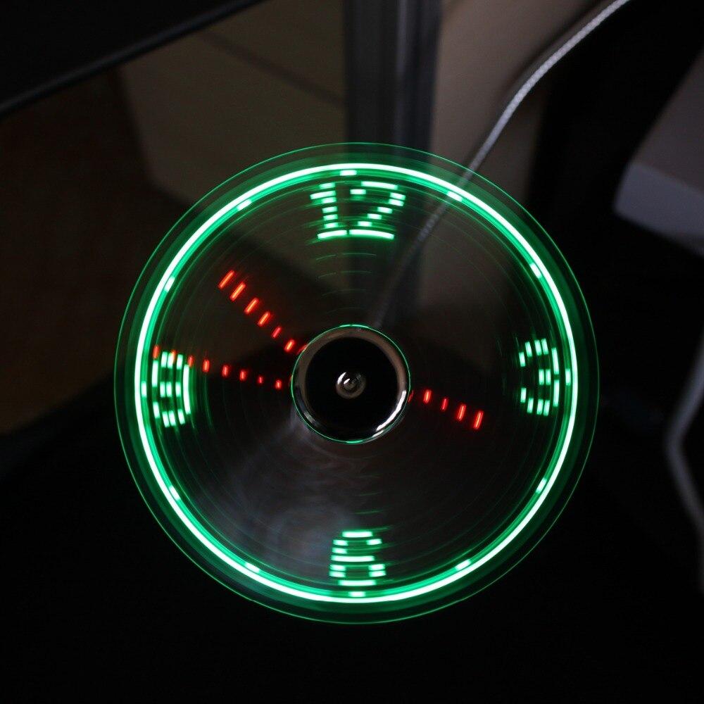 summer fan wholesale clock fan USB Out Put Portable 20pcslot USB gadgets Tablet Power Bank computer removable USB clock Fan