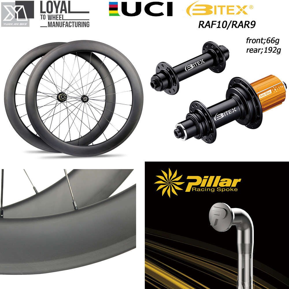Road Bike 700c Carbon Wheel 30 38 47 50 60 88 Clincher Tubular Tubeless 25mm 27mm aero rim BI-TEX Super Light Weight 260g Hub velosa supreme 50 bike carbon wheelset 60mm clincher tubular light weight 700c road bike wheel 1380g