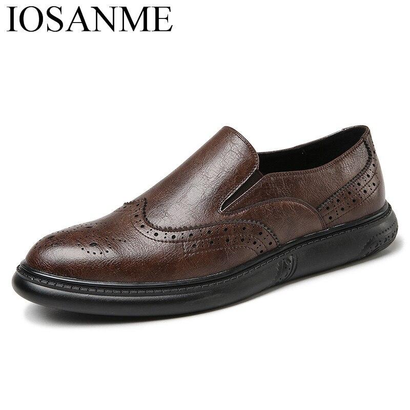 italian formal men leather shoes luxury brand dress male footwear designer wedding flats business brogue oxford