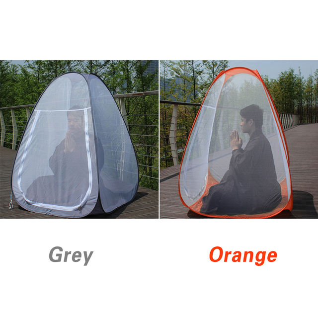Buddhist Meditation Tent Single Mosquito Net Tent Temples Sit in Free standing Shelter Cabana Quick Folding Outdoor Camping Tent