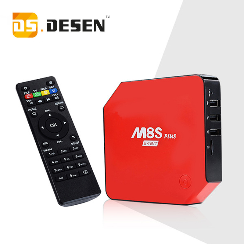 DHL Ship , Android 5.1 TV Box M8S Plus M8s Set Top Box Amlogic S905 2G/16G Gigabit 2Wifi Bluetooth4.0 Kodi Pre-installed m8s plus amlogic s905 gigabit 2g 16g android5 1 4k tv box kodi