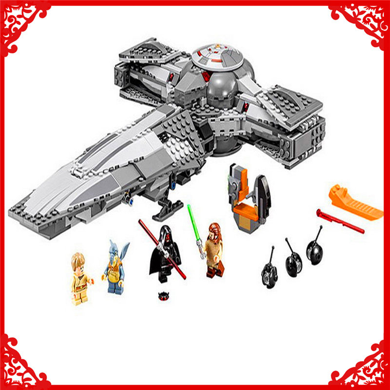 698Pcs Star Wars 7 Force Awaken Sith Infiltrator Model Building Block Toys LEPIN 05008 Gift For Children Compatible Legoe 75096 new lepin 16008 cinderella princess castle city model building block kid educational toys for children gift compatible 71040