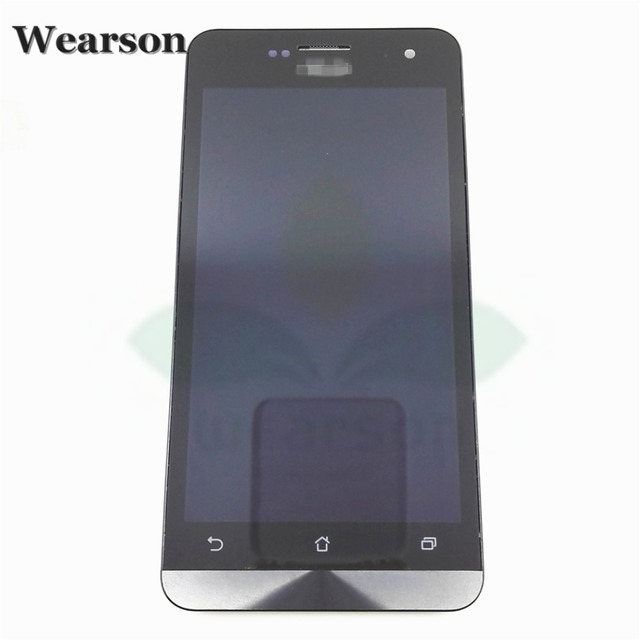 For Asus ZenFone 5 A500CG A501CG T00P T00J T00F Zenfone5 Touch Screen With LCD Display+Frame Assembly 100%Original Free Shipping
