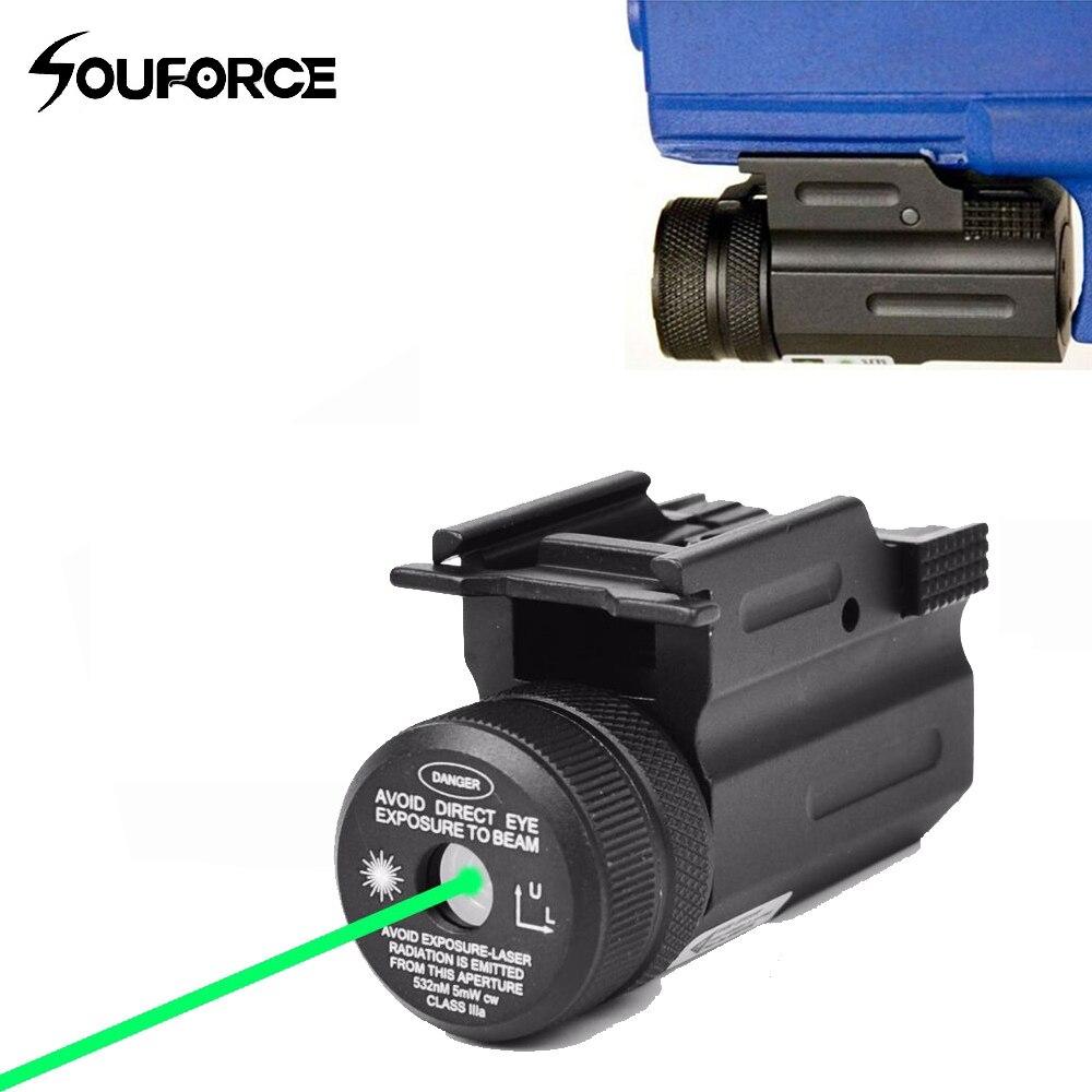 New Power Point Vert Visée Laser Collimateur QD 20mm Rail Mount pour Pistolet et Fusil Airsoft Glock 17 19 22