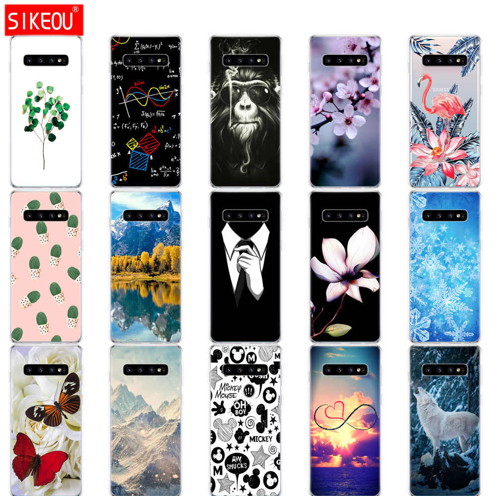 For Samsung Galaxy S10 Case S10Plus Silicone soft TPU Phone cover S10 E Case On For Samsung S10 Plus G975F S 10 SM-G973F bumper