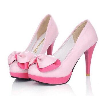 Con 2016 Coreana Alto rosado Verano Tamaño Color Redondo Hechizo Código Negro blanco Versión Señora Moda Del Arco Personalizado Zapatos Dulce aqraYw