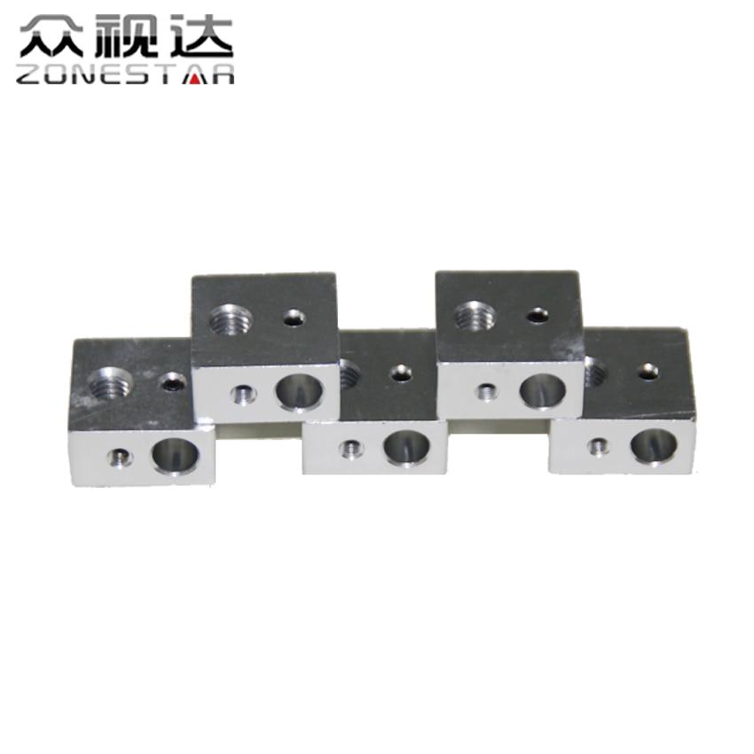 5PCS/lot 3D Printer Heating Block 20mm x 16mm x 12mm Rperap DIY Kit Parts 3D printer parts Volcano hot end heater heating block