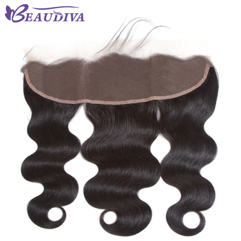"HD Transparent Lace Frontal Brazilian Body Wave Lace Frontal Free Part Ear to Ear Human Hair Lace Closure Size 13""x4"""