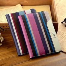 Alta calidad nueva moda de cuero de la pu case para ipad mini mini 2 retina mini 3 smart cover tablet 7.9 pulgadas flip case para ipad Mini