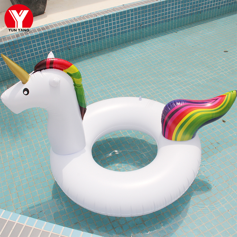 Baby SWIMMING RING UNICORN Float Eco-friendly PVC Inflatable BABY Seat Flamingo Baby Float Pool Water Fun Unicorn Toys